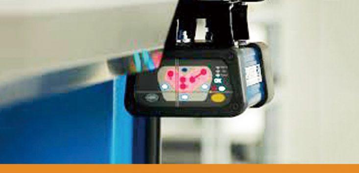 レーザー光線式プレスブレーキ安全装置